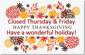 Parish Office Closed on Thanksgiving Day - November 28