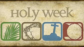 UPDATED Information for Palm Sunday & Holy Week