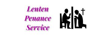 Penance Service - March 19
